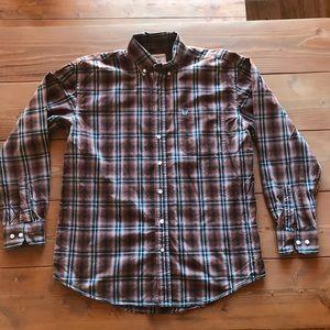 Plaid western dress shirt